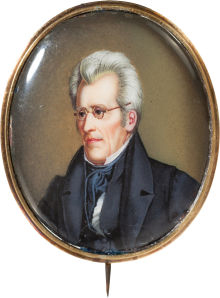 Andrew Jackson Political Brooches