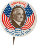 1923 Warren G. Harding Pacific Coast Tour Buttons
