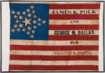 James Polk 1844 Political Campaign Flag
