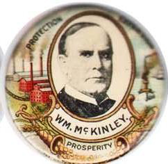 Election of 1900 William McKinley Prosperity/Expansion Buttons
