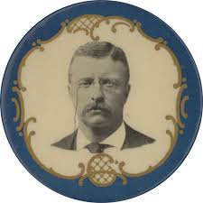 Election of 1904 Theodore Roosevelt Portrait Buttons