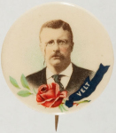 Election of 1904 Theodore Roosevelt Roses Buttons