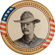 Election of 1904 Theodore Roosevelt Rough Rider Buttons