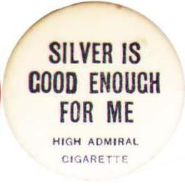 Election of 1896 William Jennings Bryan Silver Buttons