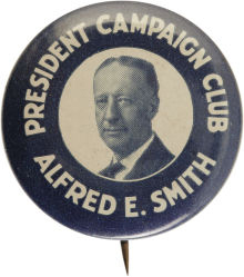 Election of 1928 Alfred Smith Portrait Buttons