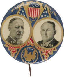 Election of 1928 Alfred Smith Jugate Buttons