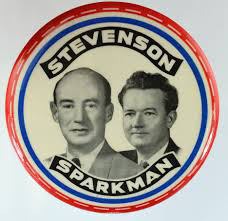 Election of 1952 Adlai Stevenson Jugate Buttons