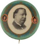 Election of 1908 William Howard Taft Portrait Buttons