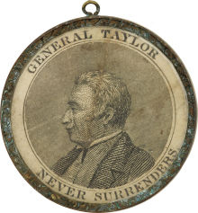 Zachary Taylor Political Shell Medalet