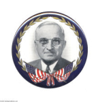 Election of 1948 Harry Truman Portrait Buttons