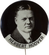 Election of 1932 Herbert Hoover Portrait Buttons
