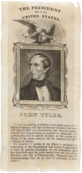 John Tyler Political Ribbons