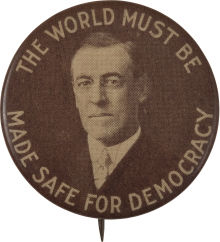 Election of 1916 Woodrow Wilson War in Europe Buttons