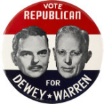 Election of 1948 Thomas Dewey Jugate Buttons