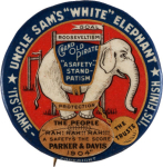 Election of 1904 Alton Parker White Elephant Buttons