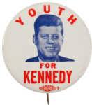 Election of 1960 John F. Kennedy Youth for Kennedy Buttons